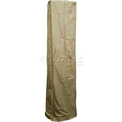 """Hiland Patio Heater Cover HVD-SGTCV-T 87""""H Heavy Duty for 36"""" Square Glass Tube Tan"""