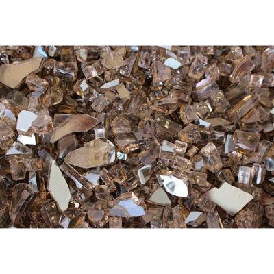 "Hiland Fire Glass RFGLASS-BRZ 1/4"" to 1/2"" Dia. Reflective Bronze 10 Lbs"