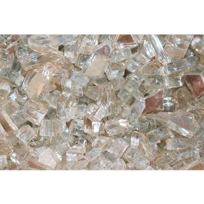 "Hiland Fire Glass RFGLASS-CRYS 1/4"" to 1/2"" Dia. Reflective Crystal 10 Lbs"