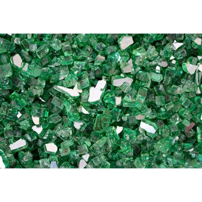 "Hiland Fire Glass RFGLASS-RGRN 1/4"" to 1/2"" Dia. Reflective Green 10 Lbs"