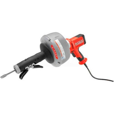"""RIDGID® K-45AF Autofeed Drain Cleaner W/Bulb Auger, Autofeed, 25'L x 5/16""""W Cable"""