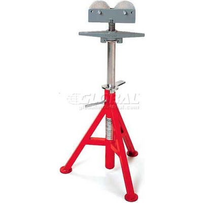 """RIDGID® Model No. Rj-99 Roller Head Pipe Stands, 12"""" Max. Pipe Capacity, 32""""-55"""" H"""