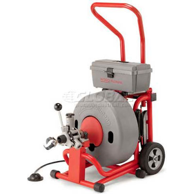"""RIDGID® K-6200 W/Inner Core Cables, 285RPM, 4/10HP, 5.6AMPS, AC, 100'L x 5/8""""W Cable"""