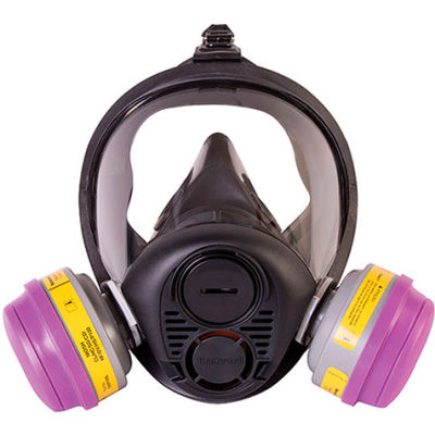 North® RU6500 Silicone Full Facepiece Respirator, Medium, RU65001M
