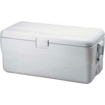 "Rubbermaid FG198200TRWHT - Marine Cooler, 102 Qt. White, Polypropylene, 16-1/2""H"
