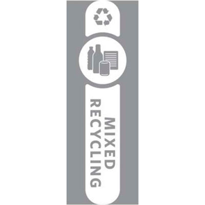 Rubbermaid Waste Stream Label Mixed Recycling Kit for Slim Jim - 1992437