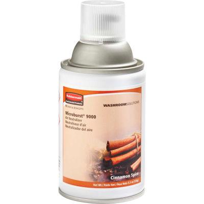 Rubbermaid® Microburst 9000 Aerosol Refill - Cinnamon Spice - FG401692 - Pkg Qty 4