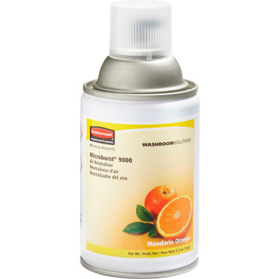 Rubbermaid® Microburst 9000 Aerosol Refill - Mandarin Orange - FG402093 - Pkg Qty 4