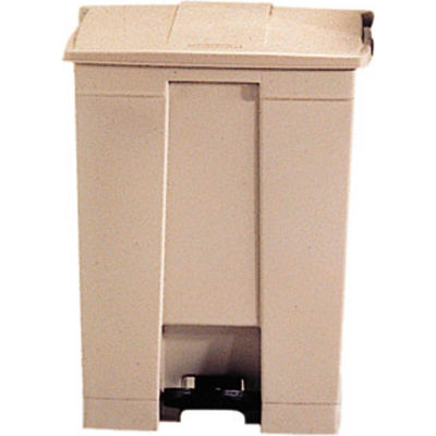 Rubbermaid® Fire Safe Step On Plastic Container, 18 Gallon, Beige - FG614500BEIG