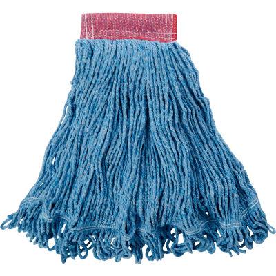"Rubbermaid® Large Super Stitch Cotton/Synthetic Wet Mop W/ 5"" Headband - FGD25306BL00 - Pkg Qty 6"