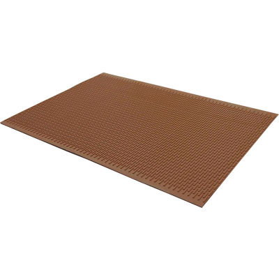 """Rubber-Cal Safe-Grip Slip-Resistant Mats 1/4"""" Thick 2' x 3' Brown"""