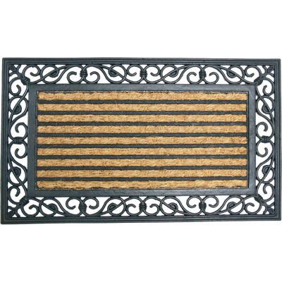 """Rubber-Cal Casablanca Coir Door Mat 5/8"""" Thick 1.5' x 2.5'"""