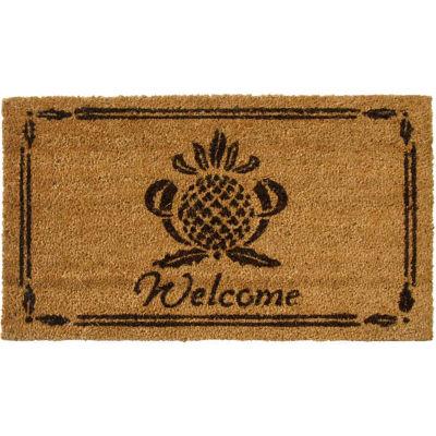 """Rubber-Cal Pineapple Coir Door Mat 5/8"""" Thick 1.5' x 2.5'"""