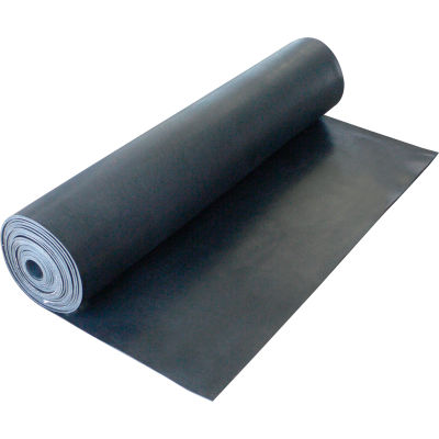"""Rubber-Cal Cloth Inserted SBR - Rubber Sheet 1/16"""" Thick 3' x 20' Black"""
