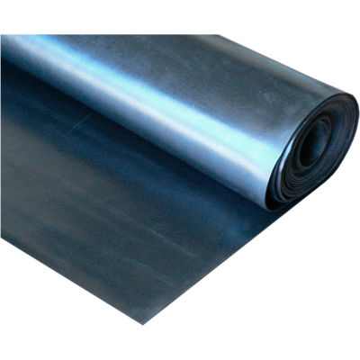 """Rubber-Cal EPDM Commercial Grade Rubber Sheet 1/16"""" Thick 8' x 8' Black"""