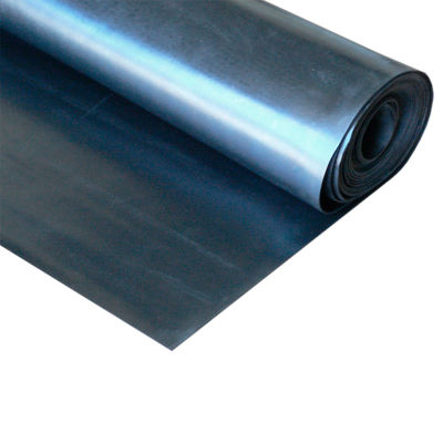 """Rubber-Cal EPDM Commercial Grade Rubber Sheet 1/4"""" Thick 3' x 22' Black"""