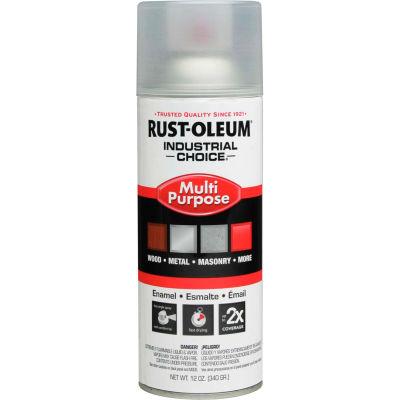 Rust-Oleum Industrial 1600 System Gen Purpose Enamel Aerosol, Crystal Clear, 12 oz. - 1610830 - Pkg Qty 6