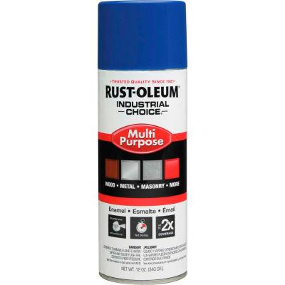 Rust-Oleum Industrial Choice 1600 System Gen Purpose Enamel Aerosol, Safety Blue, 12 oz.- 1624830 - Pkg Qty 6