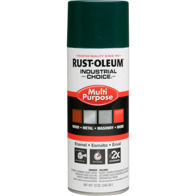 Rust-Oleum Industrial 1600 System General Purpose Enamel Aerosol, Hunter Green, 12 oz. - 1638830 - Pkg Qty 6