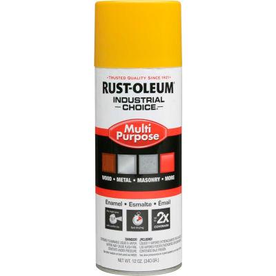 Rust-Oleum Industrial 1600 System Gen Purpose Enamel Aerosol, Safety Yellow, 12 oz. - 1644830 - Pkg Qty 6