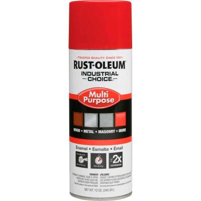 Rust-Oleum Industrial 1600 System General Purpose Enamel Aerosol, Safety Red, 12 oz. - 1660830 - Pkg Qty 6