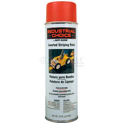 Rust-Oleum S1600 System Inverted Striping Paint Aerosol, Red - Pkg Qty 6