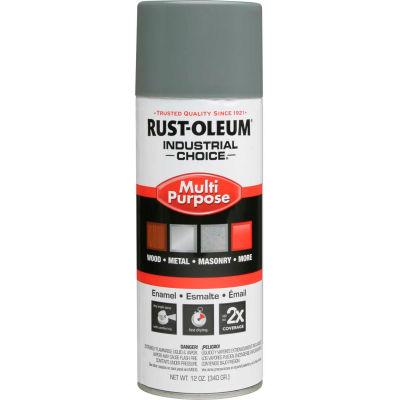 Rust-Oleum Industrial 1600 System General Purpose Enamel Aerosol, Smoke Gray, 12 oz. - 168830 - Pkg Qty 6