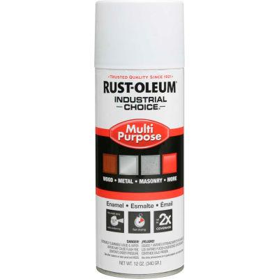 Rust-Oleum Industrial 1600 System General Purpose Enamel Aerosol, Flat White, 12 oz. - 1690830 - Pkg Qty 6