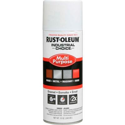 Rust-Oleum Industrial 1600 System General Purpose Enamel Aerosol, Glossy White, 12 oz. - 1692830 - Pkg Qty 6