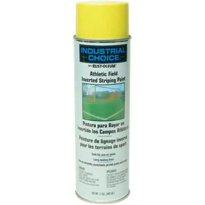 Rust-Oleum Af1600 System Athletic Field Inverted Striping Paint Aerosol, Yellow - Pkg Qty 12