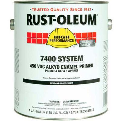 Rust-Oleum V7400 Series <340 VOC Alkyd Enamel Primer, Red High Solids Quick Dry Gallon Can - 2068402 - Pkg Qty 2