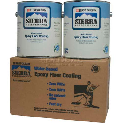 Rust-Oleum S40 System 0 VOC Water-Based Epoxy Floor Coating, Gloss Tint Base Gallon Can - 208062 - Pkg Qty 2