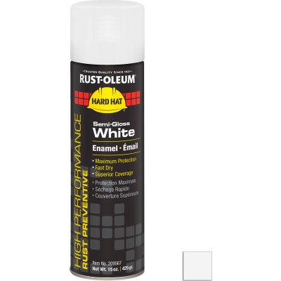 Rust-Oleum High Performance V2100 Rust Preventive Enamel Aerosol, Semi-Gloss White, 15 oz.- 209567 - Pkg Qty 6