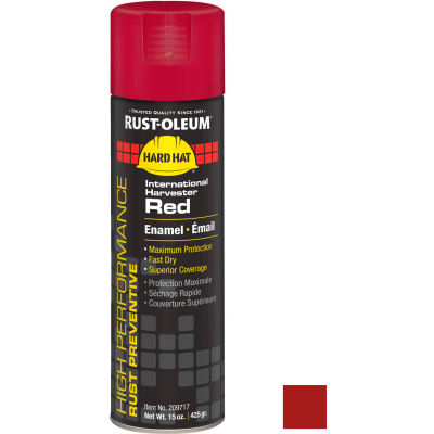 Rust-Oleum High Perform V2100 System Equip Aerosol, International Harvester Red, 15 oz. - 209717 - Pkg Qty 6