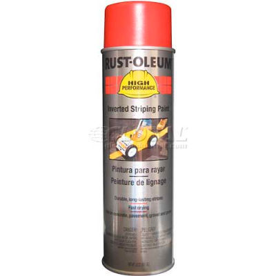 Rust-Oleum 2300 System Inverted Striping Paint Aerosol, Red - Pkg Qty 6