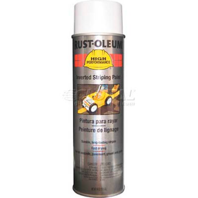 Rust-Oleum 2300 System Inverted Striping Paint Aerosol, White - Pkg Qty 6