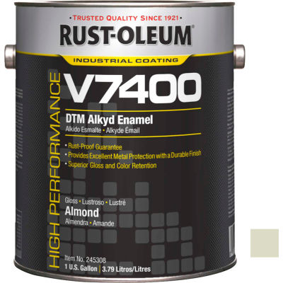 Rust-Oleum V7400 Series <340 VOC DTM Alkyd Enamel, Almond Gallon Can - 245308 - Pkg Qty 2