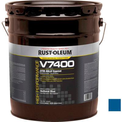 Rust-Oleum V7400 Series <340 VOC DTM Alkyd Enamel, National Blue 5 Gallon Pail - 245442
