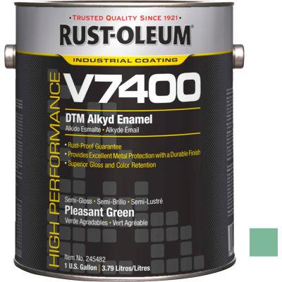 Rust-Oleum V7400 Series <340 VOC DTM Alkyd Enamel, Sg Pleasant Green Gallon Can - 245482 - Pkg Qty 2