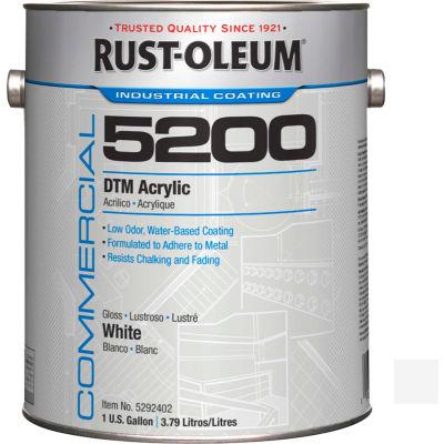 Rust-Oleum 5200 System < 250 VOC DTM Acrylic, Gloss White Gallon Can - 5292402 - Pkg Qty 2