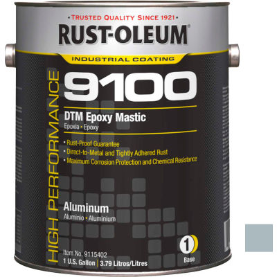 Rust-Oleum 9100 System <340 VOC DTM Epoxy Mastic, Aluminum Gallon Can - 9115402 - Pkg Qty 2