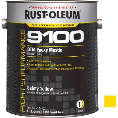Rust-Oleum 9100 System <340 VOC DTM Epoxy Mastic, Safety Yellow Gallon Can - 9144402 - Pkg Qty 2