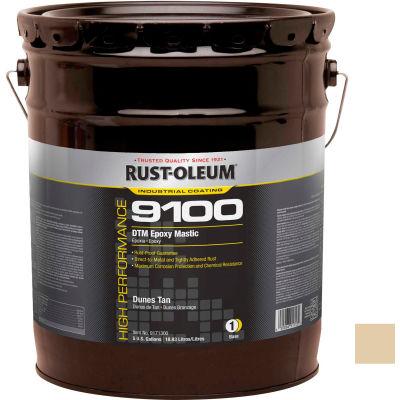 Rust-Oleum 9100 System <340 VOC DTM Epoxy Mastic, Dunes Tan 5 Gallon Pail - 9171300
