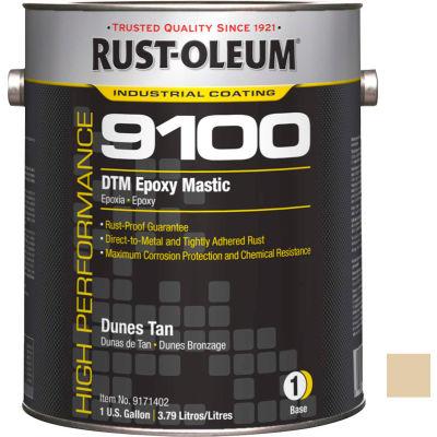 Rust-Oleum 9100 System <340 VOC DTM Epoxy Mastic, Dunes Tan Gallon Can - 9171402 - Pkg Qty 2