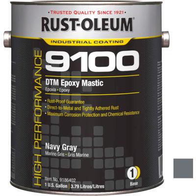 Rust-Oleum 9100 System <340 VOC DTM Epoxy Mastic, Navy Gray Gallon Can - 9186402 - Pkg Qty 2