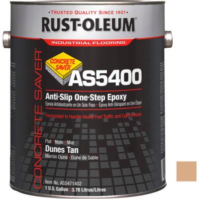 Rust-Oleum As5400 System <340 VOC Anti-Slip One-Step Epoxy Floor Coat, Dunes Tan Gal Can - AS5471402 - Pkg Qty 2