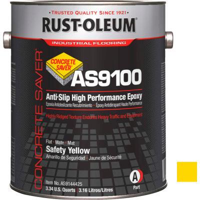 Rust-Oleum AS9100 System <250 VOC Anti-Slip High Perf Epoxy Floor Coat, Safety Yellow Kit- AS9144425