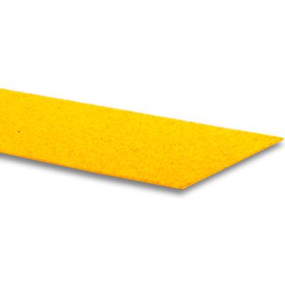 "GripAll ® LAVAGRIP® 6"" x 48"" Anti-Slip Adhesive Strip, Yellow - Pkg Qty 4"