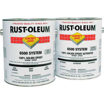 Rust-Oleum 6500 System <100 VOC 100% Solids Epoxy Floor Coating, Silver Gray Gallon Can - S6582413 - Pkg Qty 2