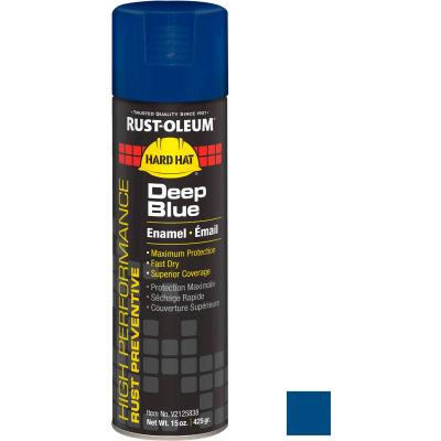 Rust-Oleum High Performance V2100 Rust Preventive Enamel Aerosol, Deep Blue, 15 oz. - V2125838 - Pkg Qty 6
